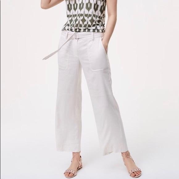 6dd1624d171 Ann Taylor LOFT Belted Culotte Pants